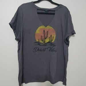 Torrid size 2 desert vibes cut out graphic tee